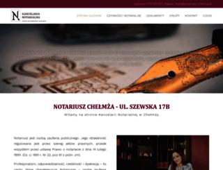 notariusz-chelmza.pl screenshot