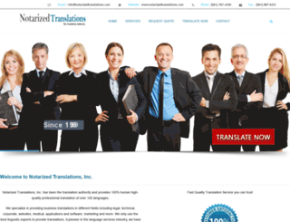 notarizedtranslations.com screenshot