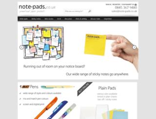 note-pads.co.uk screenshot