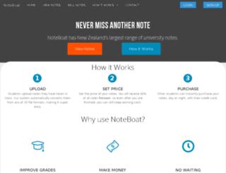 noteboat.co.nz screenshot