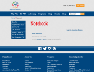 notebook.txpta.org screenshot