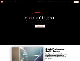 noteflight.com screenshot