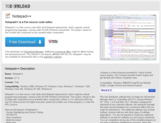 notepad.todownload.com screenshot