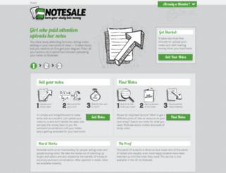 notesale.co.uk screenshot