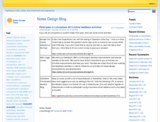 notesdesignblog.com screenshot
