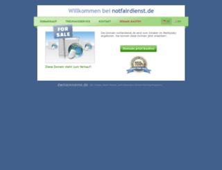 notfairdienst.de screenshot