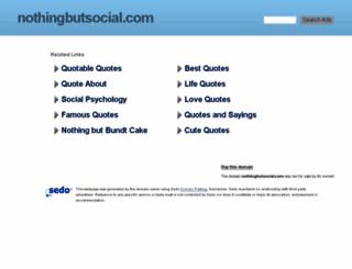 nothingbutsocial.com screenshot