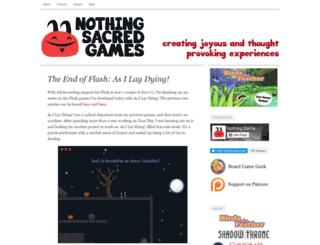 nothingsacredgames.com screenshot
