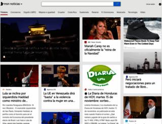 noticias.latam.msn.com screenshot