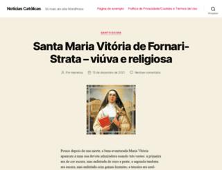 noticiascatolicas.com.br screenshot