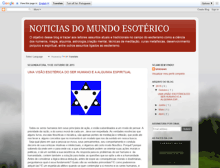 noticiasdomundoesoterico.blogspot.com.br screenshot