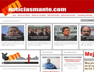 noticiasmante.com screenshot