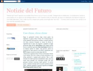notiziedelfuturo.blogspot.com screenshot