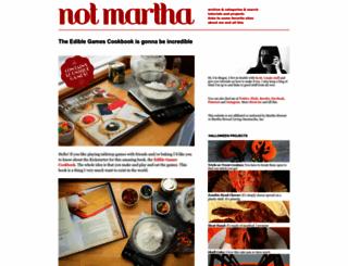 notmartha.org screenshot