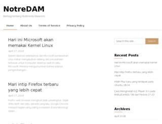 notredam.org screenshot