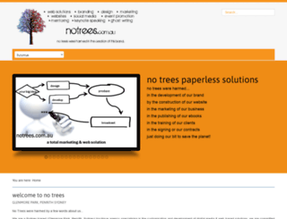 notrees.com.au screenshot