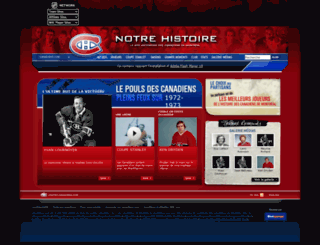 notrehistoire.canadiens.com screenshot