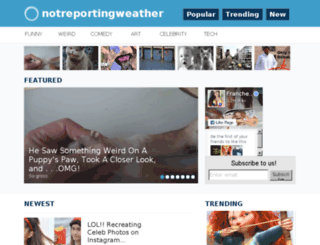 notreportingweather.com screenshot