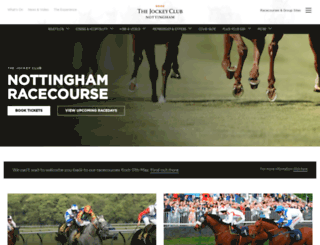 nottingham.thejockeyclub.co.uk screenshot