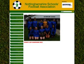 nottsschoolsfa.co.uk screenshot