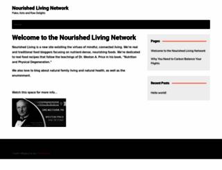 nourishedlivingnetwork.com screenshot