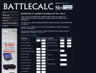 nova.battlecalc.com screenshot