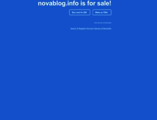 novablog.info screenshot