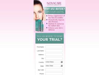 novacareskin.com screenshot