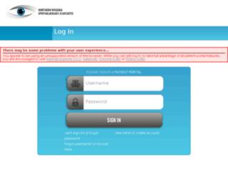 novaeyes.omedixpatientportal.com screenshot