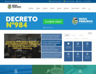 novafriburgo.rj.gov.br screenshot
