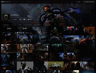 novaillusion.cgsociety.org screenshot