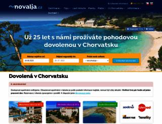 novalja.cz screenshot