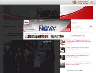 novaquilombofm.com.br screenshot