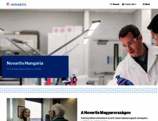novartis.hu screenshot