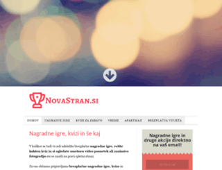 novastran.si screenshot