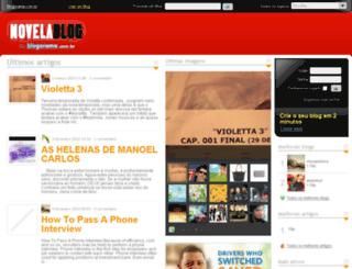 novelablog.com.br screenshot