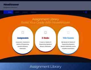 novelanswer.com screenshot