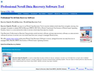 novelldiskrecovery.com screenshot