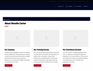 novellecenter.com screenshot