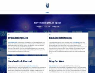 novemberlights.se screenshot