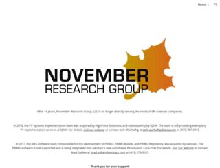 novemberresearch.com screenshot