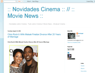 novidadescinema.blogspot.com screenshot