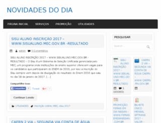 novidadesdodia.com.br screenshot