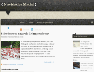 novidadesmadal.blogspot.com.br screenshot