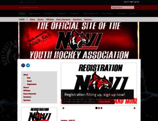 noviyouthhockey.pucksystems.com screenshot