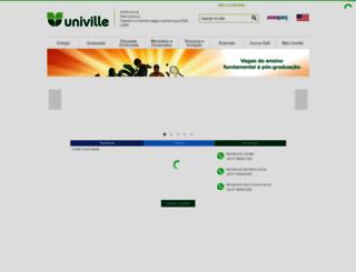 novo.univille.edu.br screenshot
