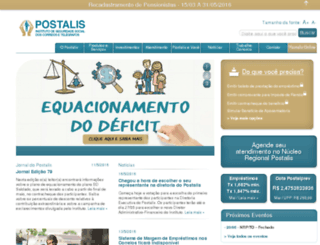 novosite.postalis.org.br screenshot