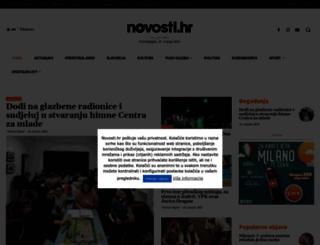 novosti.hr screenshot