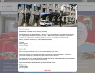 novotelmontreal.com screenshot