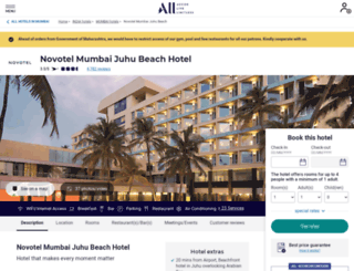 novotelmumbai.com screenshot